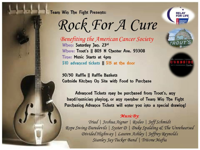 rock for a cure flyer